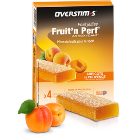 OVERSTIM.s Fruit'N Perf Antioxydant Bar Box 4x25g, Apricot